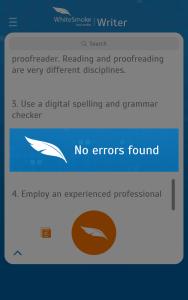 WhiteSmoke Proofreading App