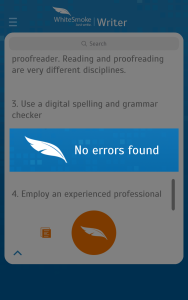 WhiteSmoke Proofreading App